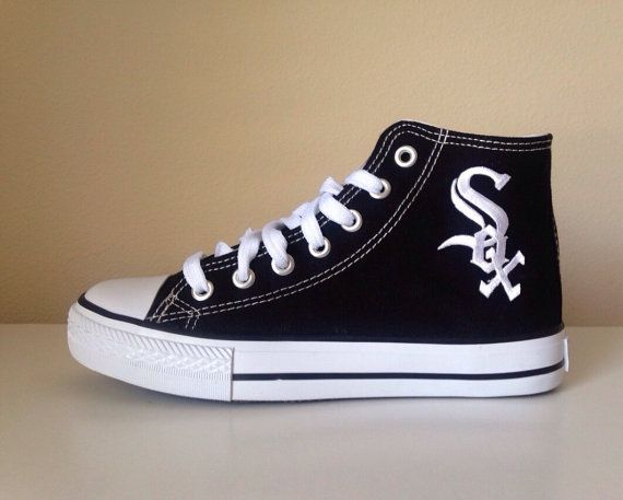 Chicago White Sox Black High Top Shoes