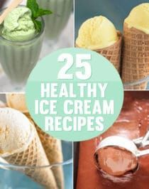 The 25 BEST Ice Cream Recipes (ALL healthy and lightened up)! #cheesecakeicecream 25 Healthy Ice Cream Recipes (low fat, low calorie, high protein) #proteinicecream