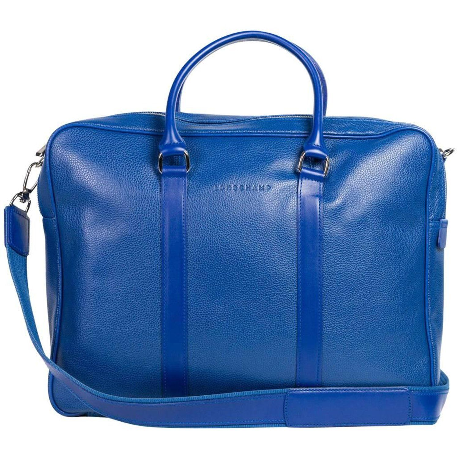 Longchamp Men s Solid Blue Le Foulonne Document Holder  e040ed7643a