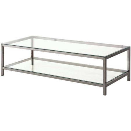 Home Glass Top Coffee Table Coffee Table With Shelf Coffee