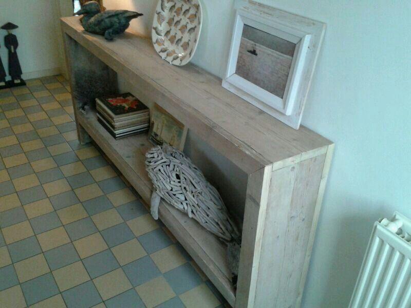 Side table van oud gebruikt steigerhout in elk gewenst for Sidetable steigerhout