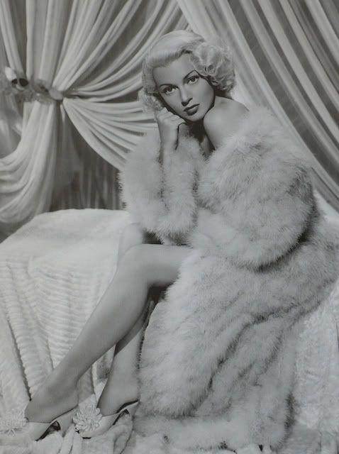 Fluffy elegance!! Lana Turner