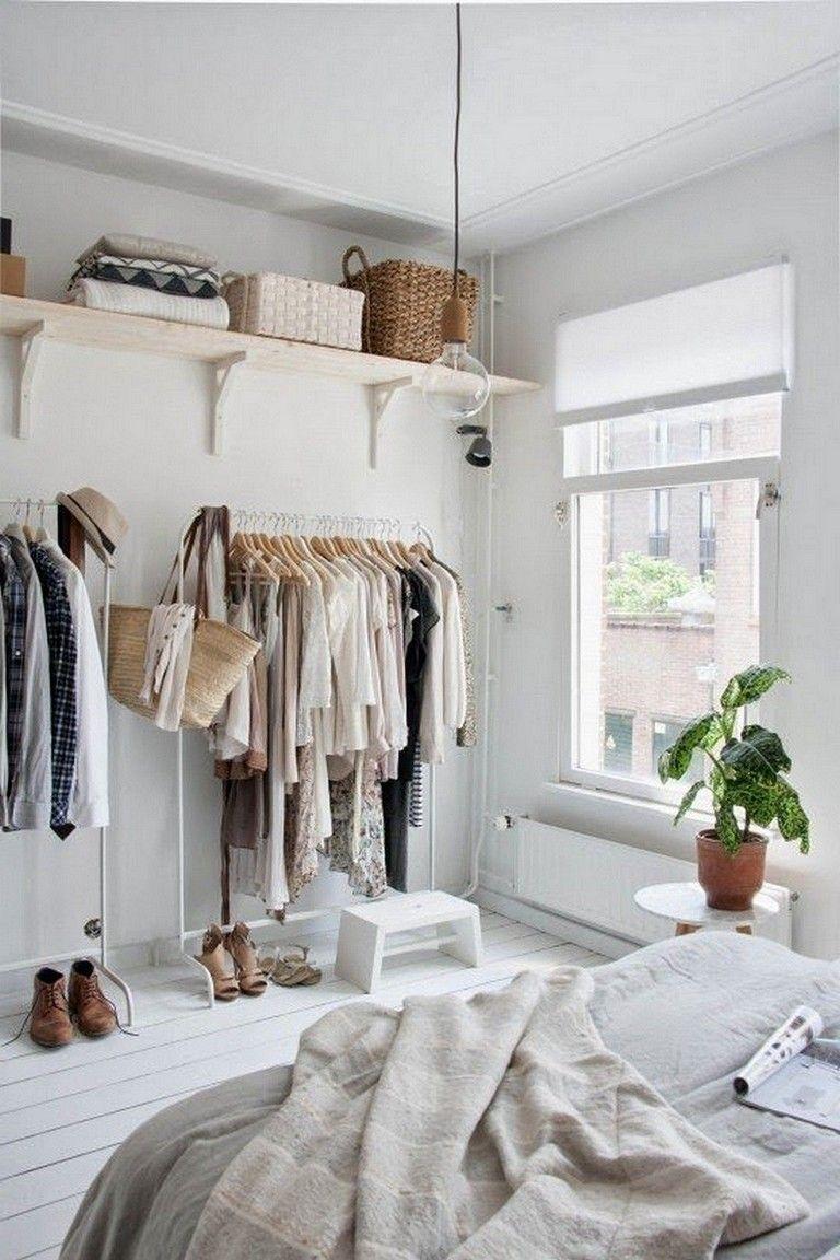 45 creative storage design for small spaces bedroom ideas - Clothes storage ideas for small spaces ...