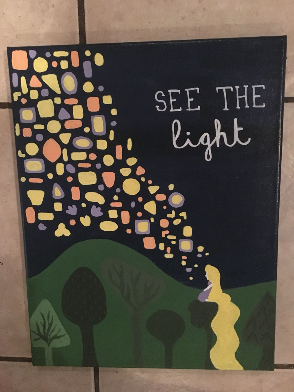 See The Light Tangled Themed Canvas Disney By Elise Bender