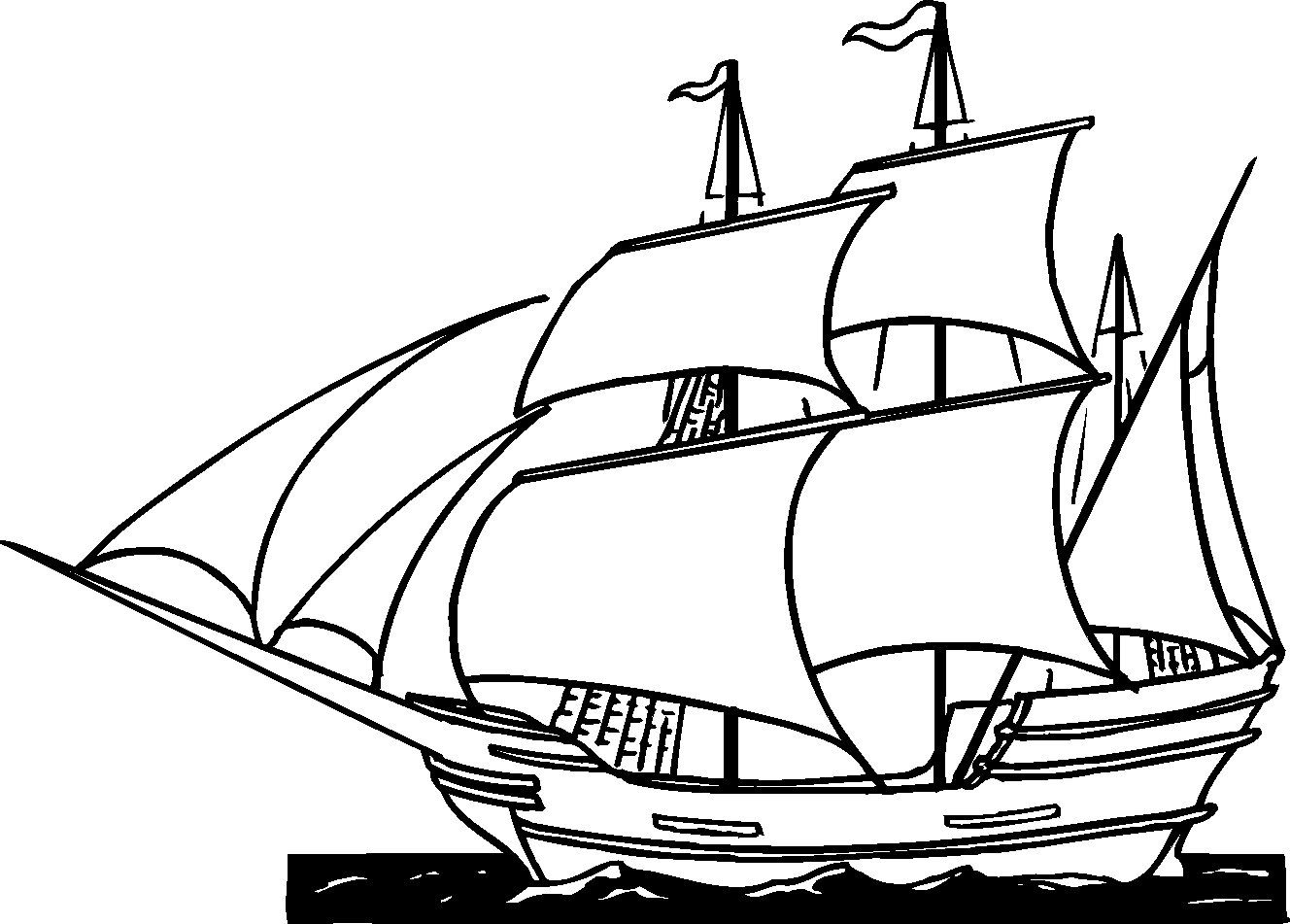 Free Printable Ships Coloring Pages For Boys Thanksgiving