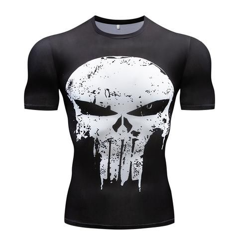 72b042ea92b Gyms t-shirt Summer 3D Fitness men s t-shirt the Avenger Compression Shirt  Fitness