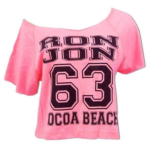 Ron Jon 63 Off Shoulder Tee Cocoa Beach 20 Liked On Polyvore Featuring