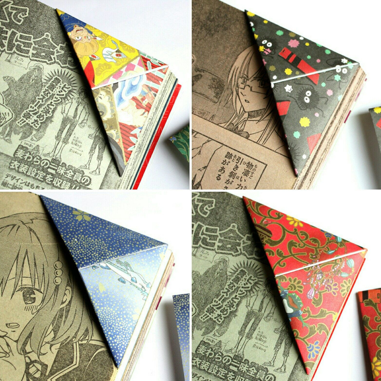 Origami Le spirited away origami bookmarks made with studio ghibli official