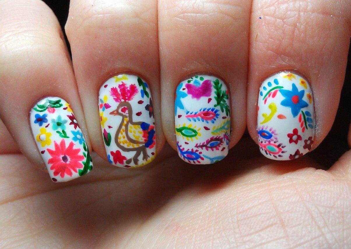 10 uñas mexicanas para dar el grito   Diseños de uñas, Arte de uñas ...