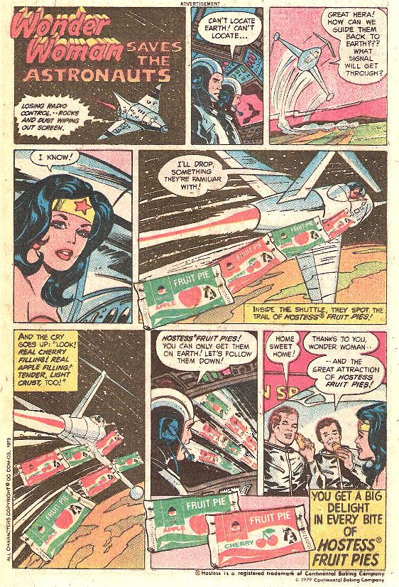 Wonder Woman Saves the Astronaut Hostess Ad | Hostess ads ...