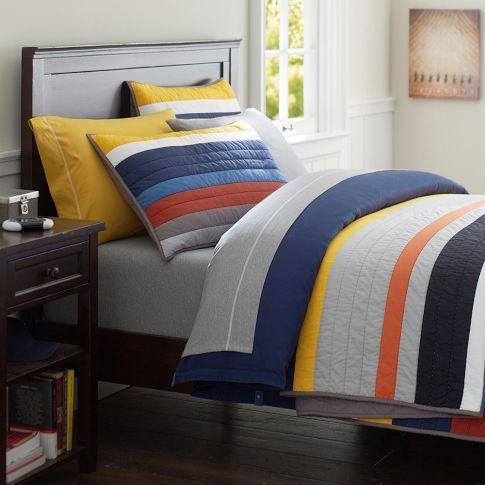 Mvp Stripe Quilt Quilts Striped Quilt Sports Quilts