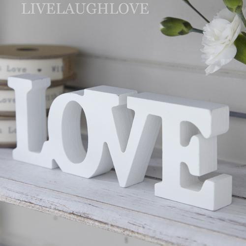 scritta love shabby chic lettere in legno   cose da comprare ... - Arredamento Shabby Chic Lissone
