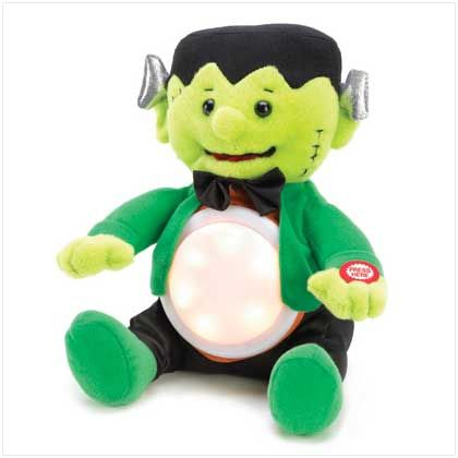 Add a little rock-n-roll action to your Halloween haunt! Plush Frankenstein figurine bursts into song with a gentle squeeze of his hand; his...