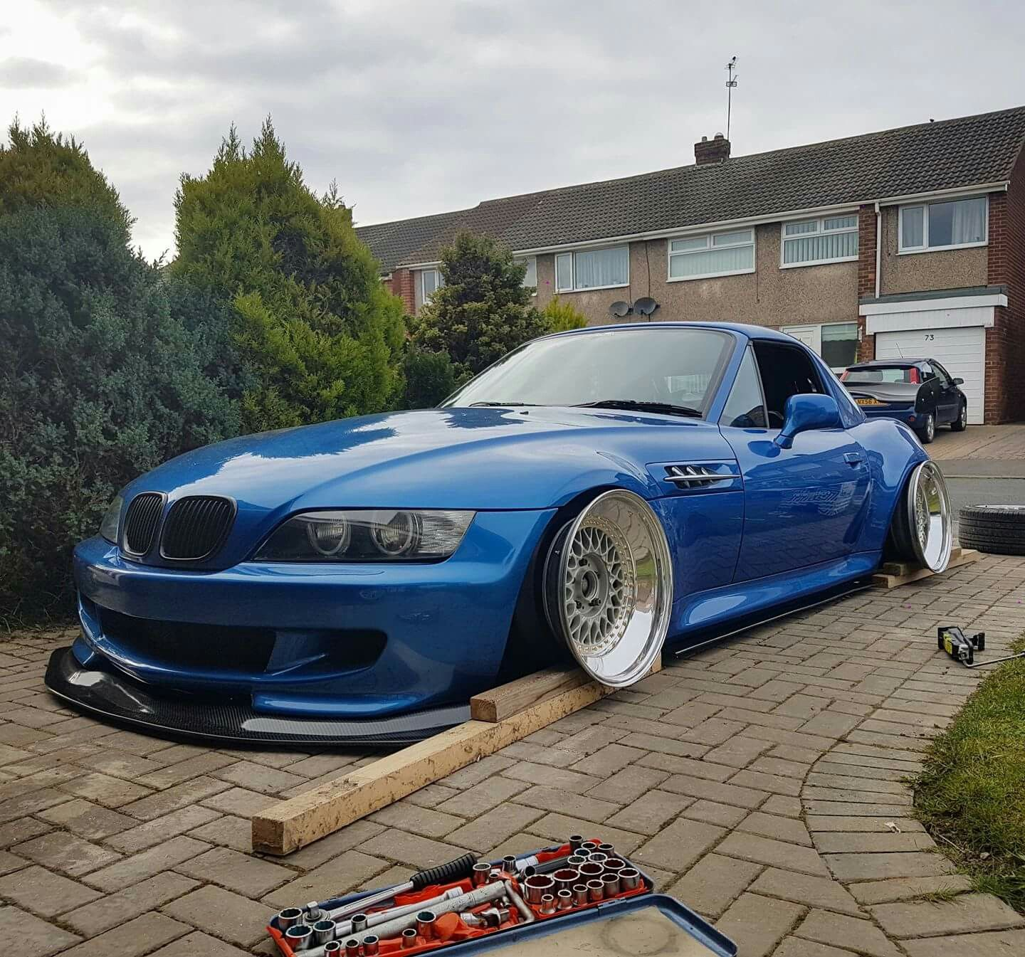 Bmw Z3 Drift Car: BMW Z3 M Roadster Blue Slammed