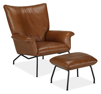 Ordinaire Paris Leather Chair Ottoman Ottomans Living Rooms And