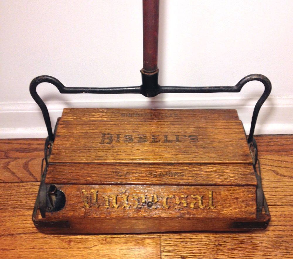 Antique Bissell Universal Wood Floor Sweeper with Handle