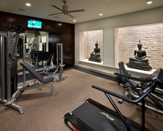 Pin by Lesa Cobb on Home Fitness Rooms | Home gym design, At home