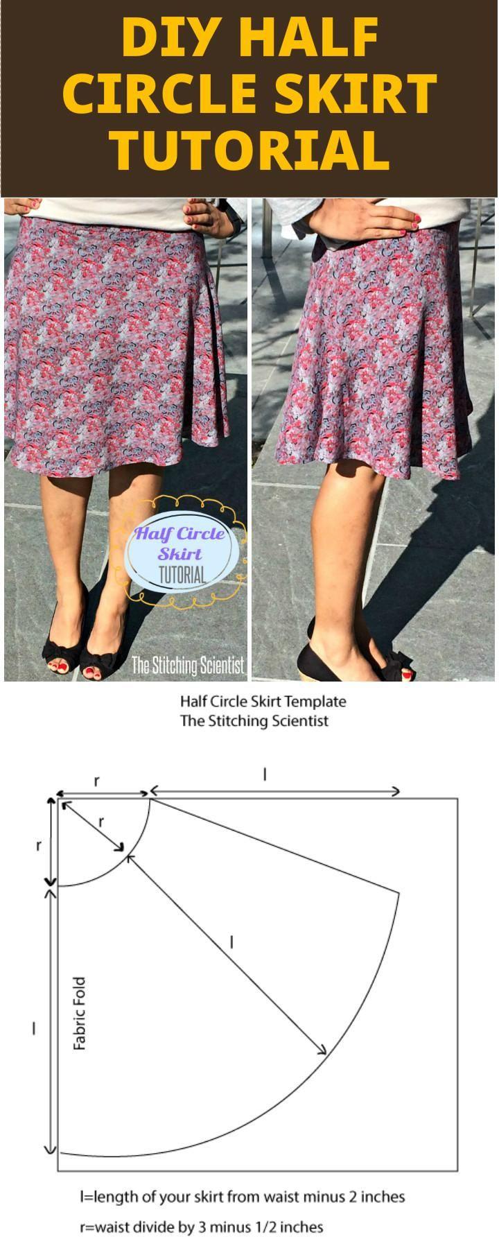 25 DIY Half Circle Skirt Patterns - Free Sewing Patterns   winter ...