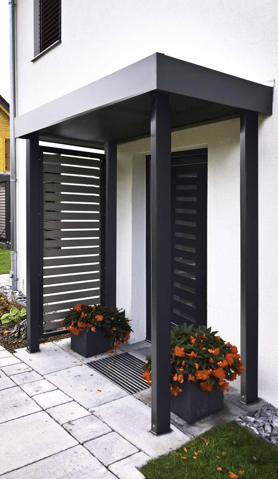 #Vordach #Eingangsüberdachung #Haustürvordach #Haustürüberdachung #Siebau