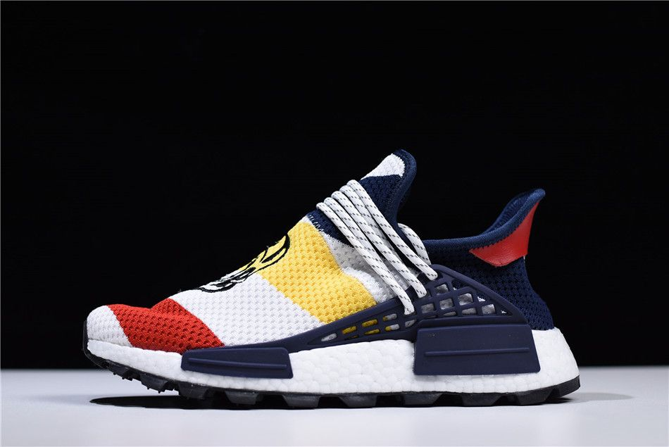 47aecec17 Virgil Abloh s OFF-WHITE x Pharrell x adidas NMD Hu Race Trail Black White  BB7725