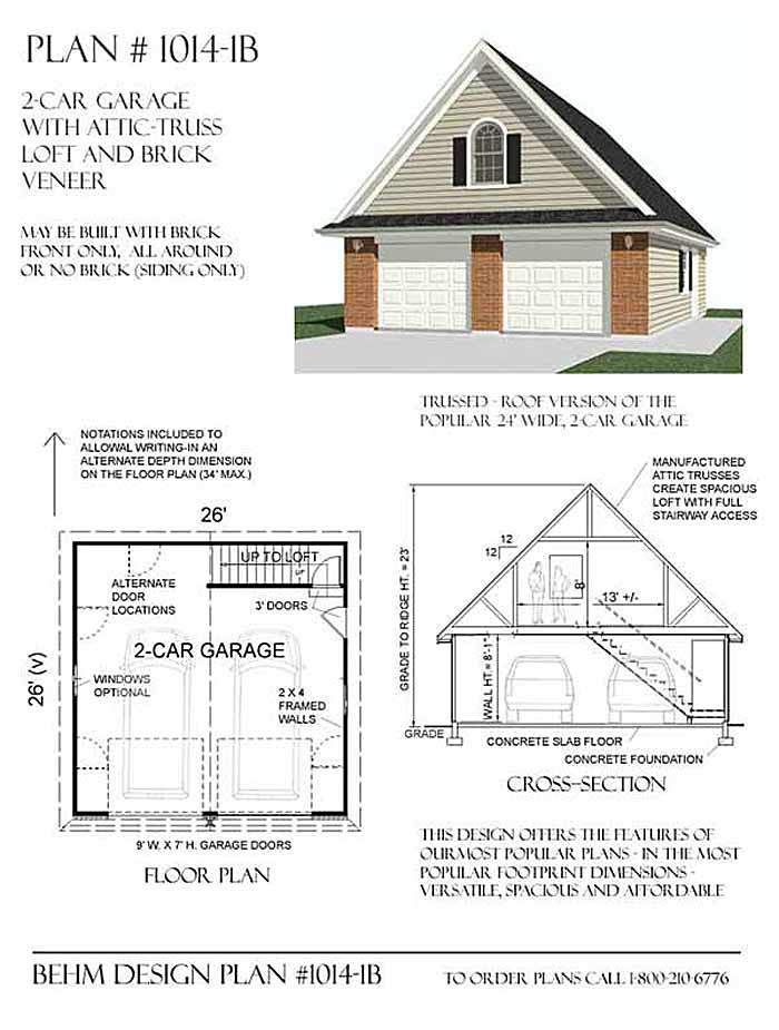 Ready to use garage plans are very helpful to get a construction ...
