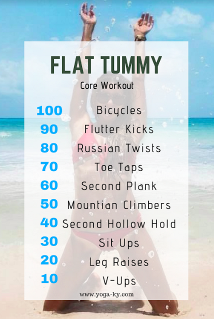Core workouts for that flat tummy! #workout #tummy #abs #cheerworkouts
