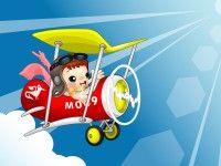 cute cartoon in air