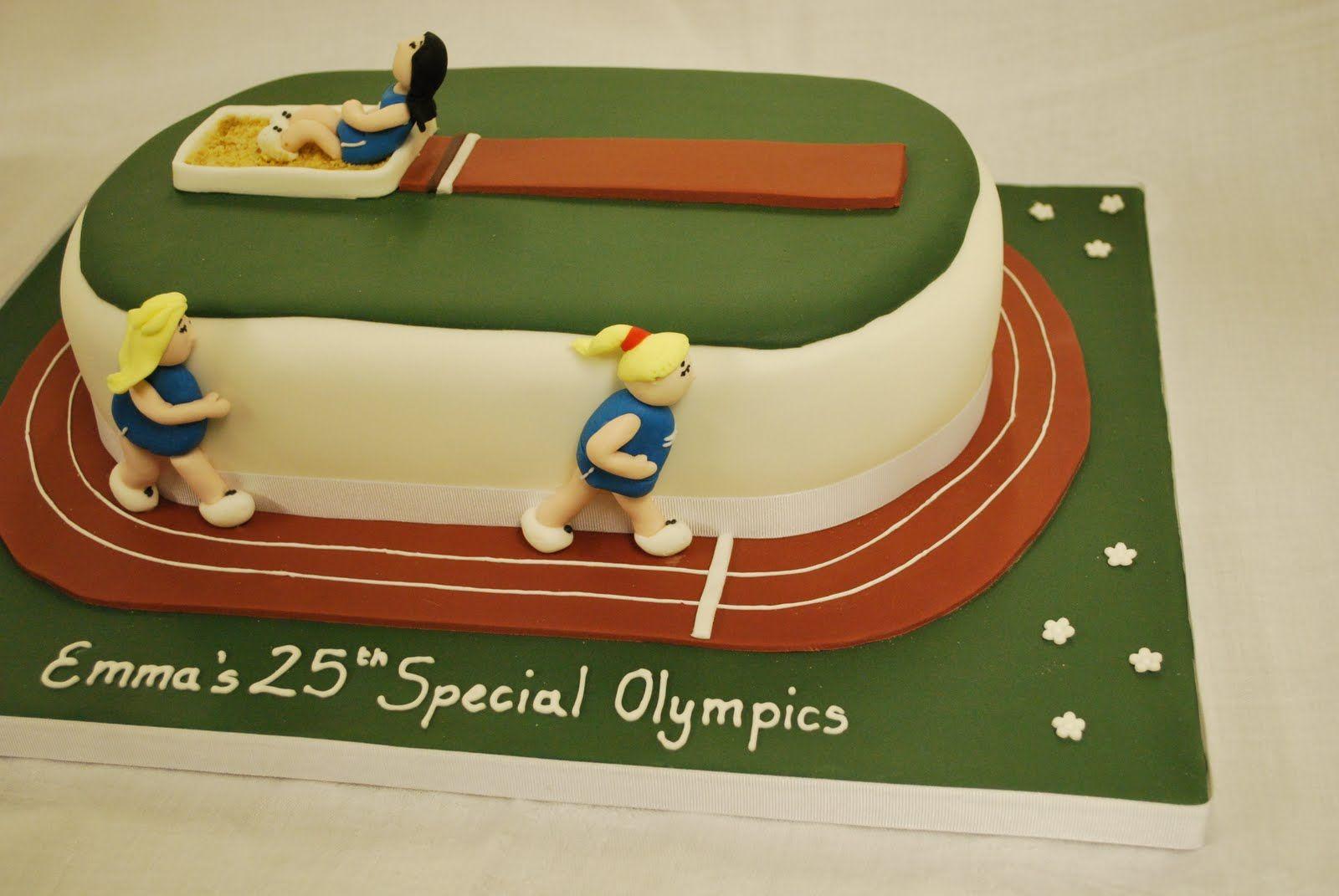 Running Track Cake