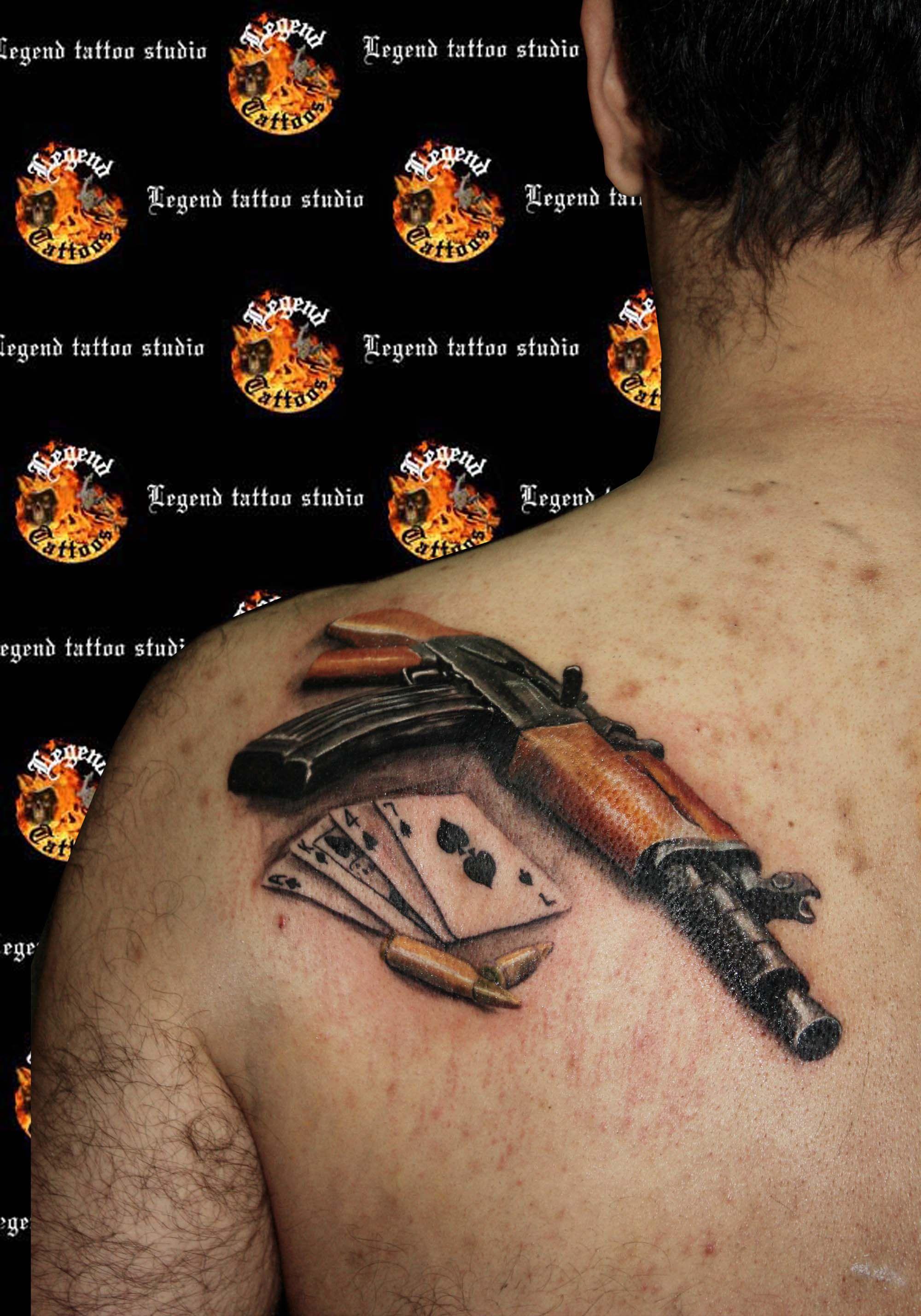 AK47 tattoo