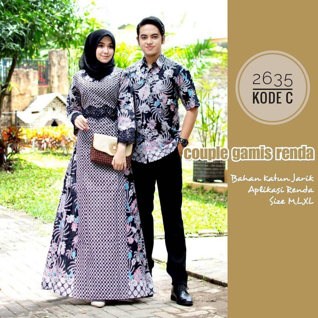 B9JU9 Couple gamis katun @9,9. Matt full batik katun halus