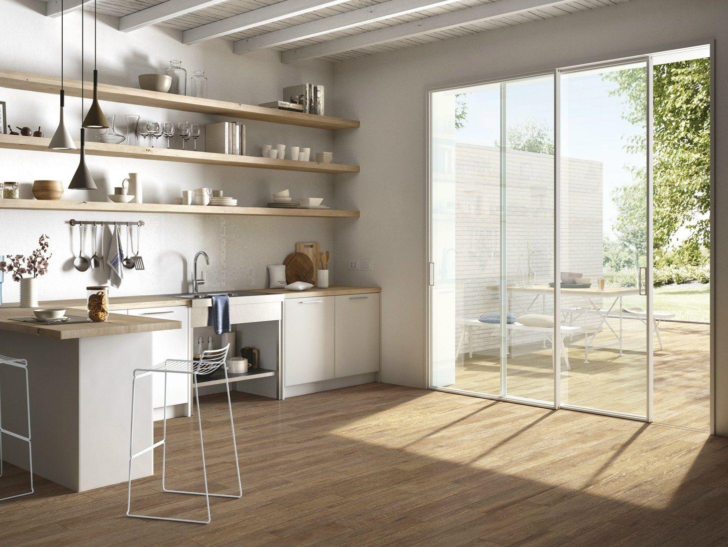 Disegno piastrelle effetto legno cucina : PAVIMENTO IN GRES PORCELLANATO SMALTATO EFFETTO LEGNO HARMONY BY ...
