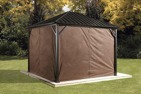 Sojag Dakota Gazebo Privacy Curtains Brown 10 X 12 Ft Gazebo