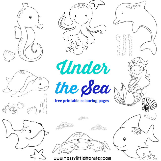 Preschool Under The Sea Coloring Pages