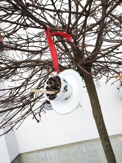 HeimatGeflüster: Vogelfutter in Tassen {DIY}