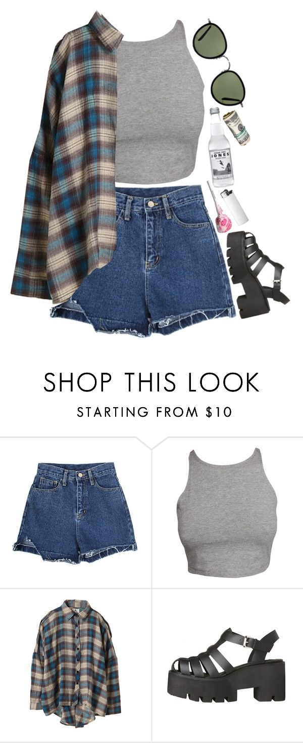 """Rythm"" by eyeliieds ❤ liked on Polyvore featuring UNIF and Oliver Peoples"