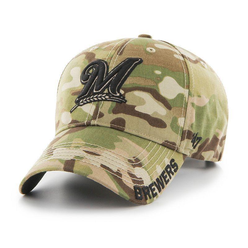 sale retailer 5e525 1190f Adult  47 Brand Milwaukee Brewers Frost MVP Multicam Adjustable Cap,  Multicolor
