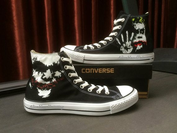 8db84b432b28 Joker Converse Custom Hand Painted Shoes by AliceHandPainting ...