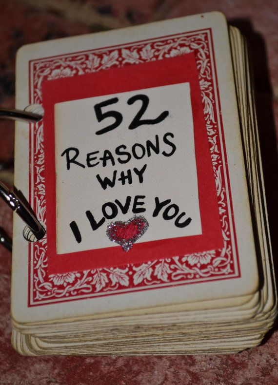 52 Reasons Why I Love You Playing Card Book Unique Handmade