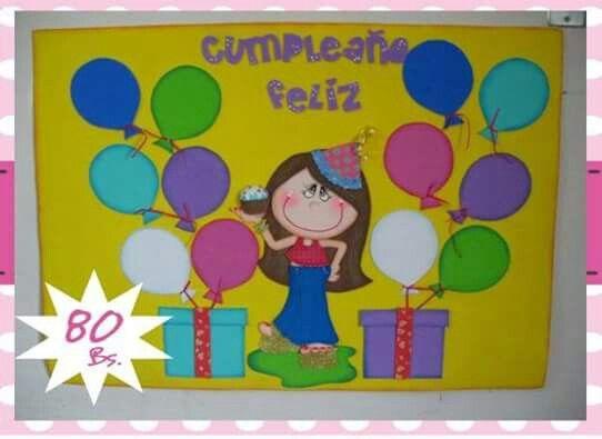Hermoso Para Poneer Cumpleañeros Murales De Cumpleaños Decorar Salones De Clases Decoración Aula De Preescolar