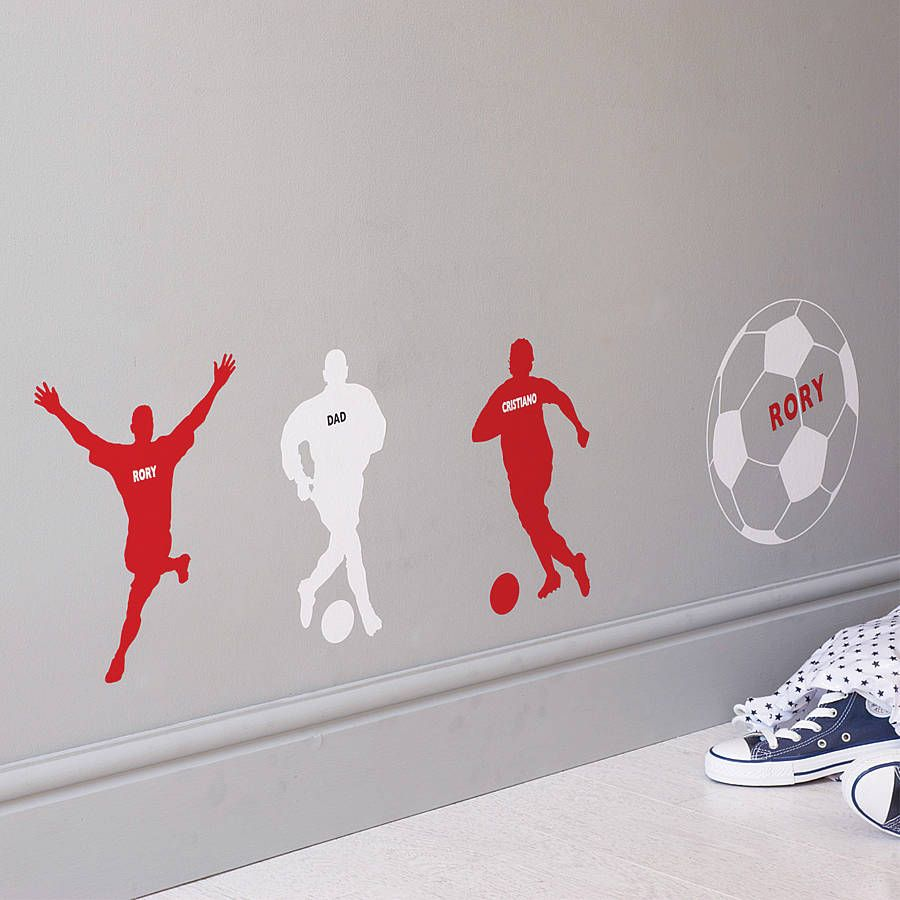 Build your dream team with these personalised footballer wall build your dream team with these personalised footballer wall stickers perfect for fans of the amipublicfo Choice Image