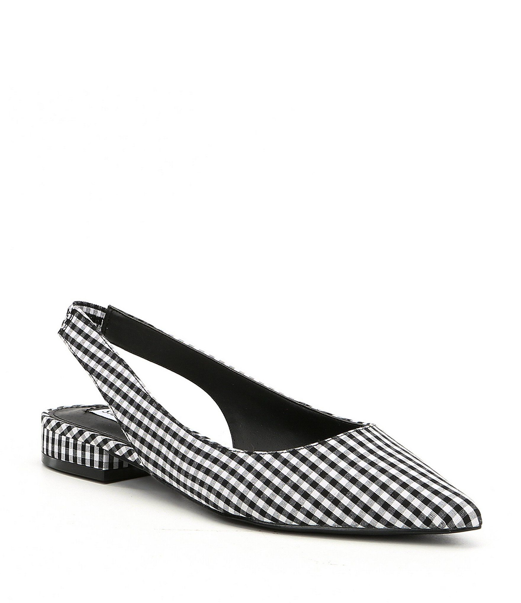 5193118d8b6 Shop for Steve Madden Envi Gingham Slingback Block Heel Slip-Ons at ...