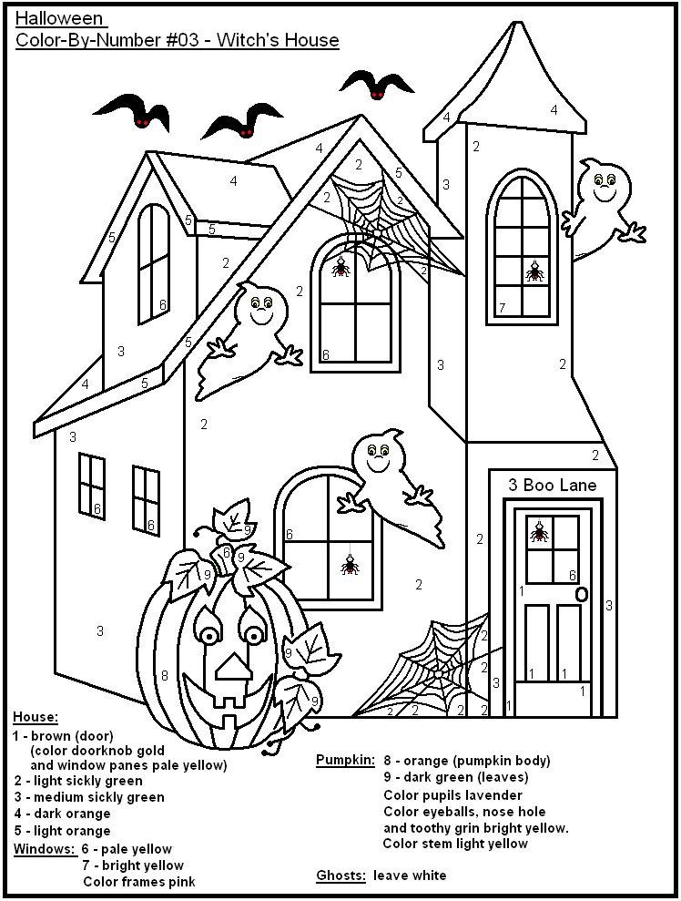 FREE Printable Halloween Color-by-Number- Holidays at Kid