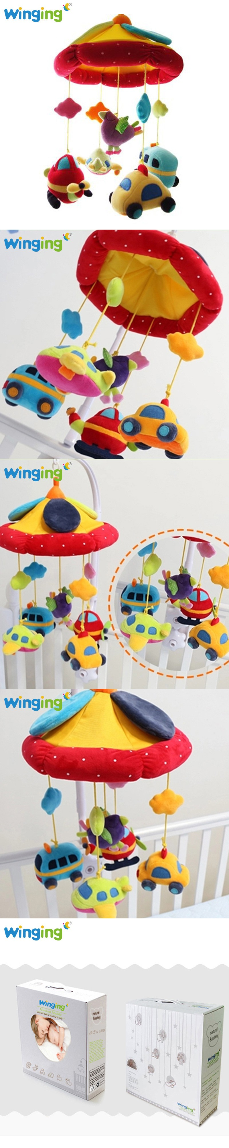 Baby bed holder - Cot Bell Music Box With Holder Cute Baby Bed Hanging Rattle Toys Newborn Gift Learning Education