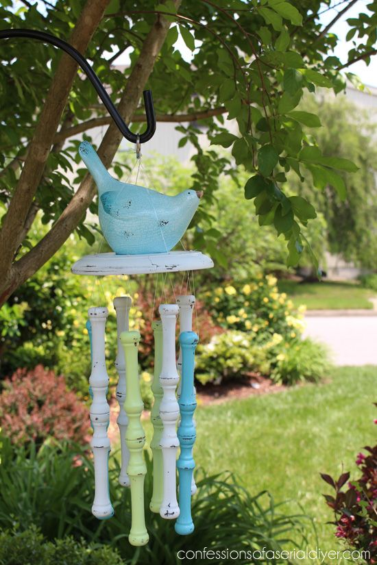 Spindle Wind Chime By Confessions Of A Serial Diyer Featured On Funky Junk Interiors