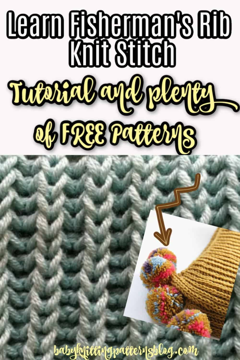 Learn How To Knit Fisherman's Rib Stitch Free Baby