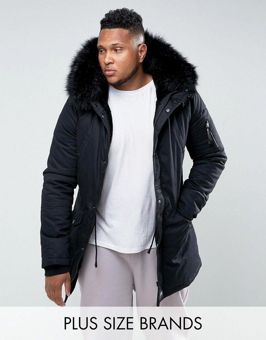 Esprit parka with detachable teddy fur lining