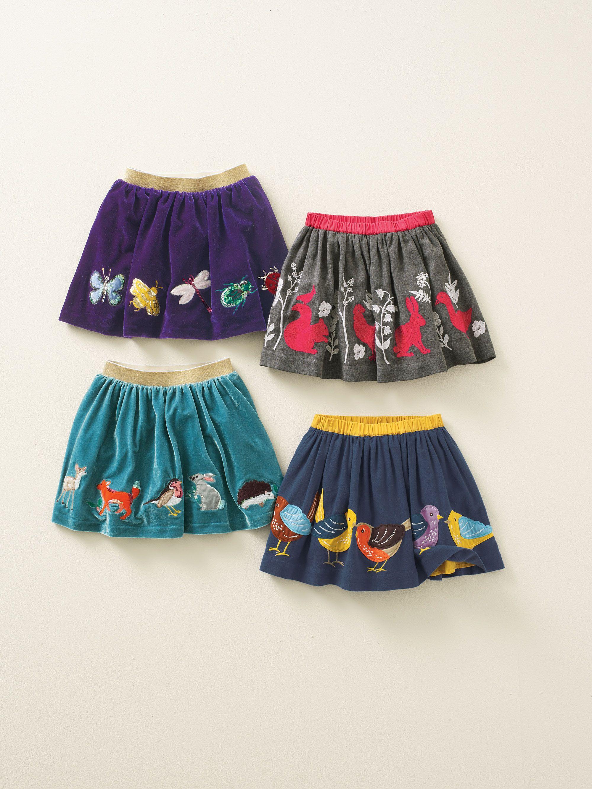 Mini Boden Velvet Appliquee Skirt Boden Harvest Competition