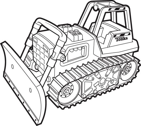 Excavator Coloring Pages To Print Tonka Coloring Pictures