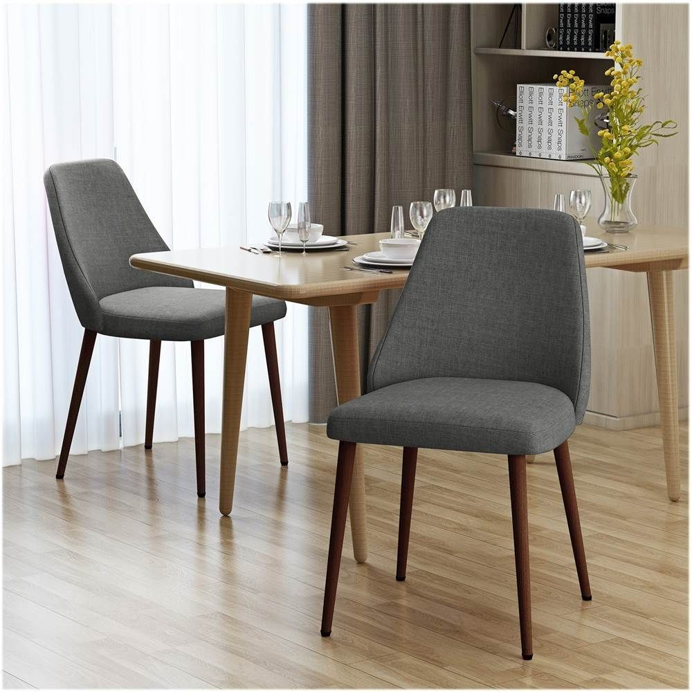 Noble House Tomball Fabric Dining Chair Set Of 2 Light Gray 303208 Best Buy In 2021 Dining Chairs Mid Century Upholstered Dining Chair Mid Century Dining Chairs
