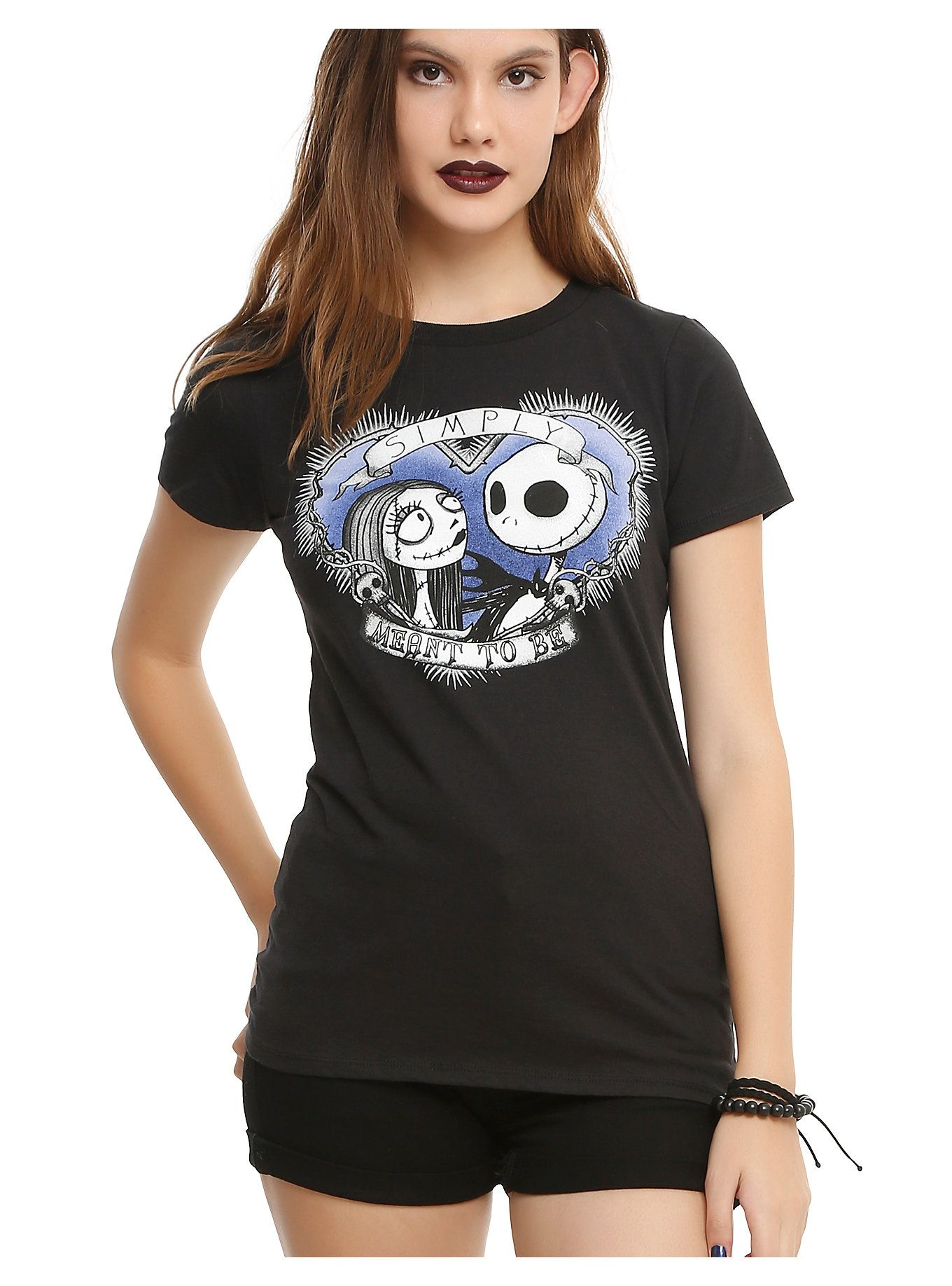 The Nightmare Before Christmas Simply Meant To Be Girls T-Shirt in ...